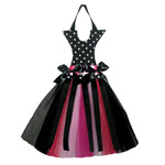 Black Polka Dot/Fuchia Hair Bow Holder