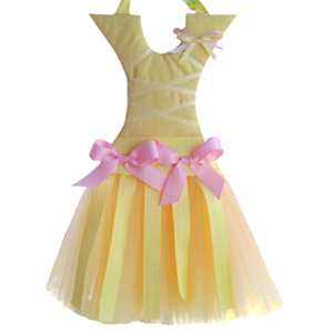 Small Yellow and Pink Tutu Hair Bow Holder