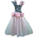 Zebra Tutu Hair Bow Holder